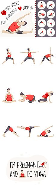 9 yoga poses for pregnant women.