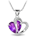 Heart Shaped Diamond Necklaces For Women