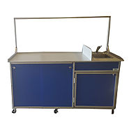 Food Service Cart with Portable Self Contained Sink Model: FSC-001