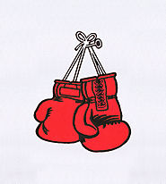 Classic Red Boxing Gloves Embroidery Design | EMBMall