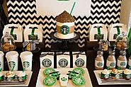 A Yummy Starbucks Birthday Party - rufflesbowtiesbowtique