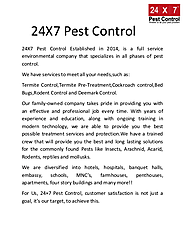 Effective Pest Control Services in Delhi | edocr