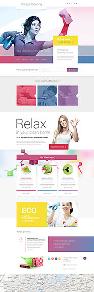 Marsy's Cleaning WordPress Theme Business & Services Maintenance Services Cleaning Template