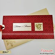 Sikh designer wedding card