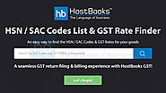 HSN Code List | GST Rate | Find GST Rate of HSN Code | HostBooks