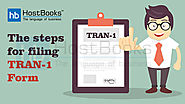 What is TRAN-1 and what are the steps for filing GST TRAN-1?