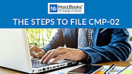 What are the steps to file CMP-02 on GST portal? - HostBooks