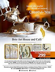 Chai Time at Brio Art Cafe,Other event in Lucknow | Eventshelf