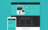 Software Responsive Website Computers & Internet Software Template