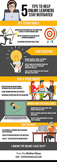 Infographic: How To Stay Motivated While Studying Online?