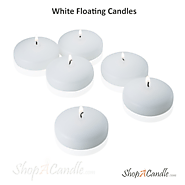 White Floating Candles In 2 & 3 Inch Size Online At Shopacandle