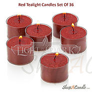 Shop Red Unscented Tealight Candles Set Of 36 On Shopacandle