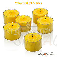 Buy Scented And Unscented Yellow Tealight Candles - Shopacandle