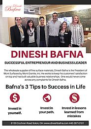Dinesh Bafna- President of Mont Surfaces by Dinesh Bafna