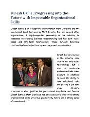 Dinesh Bafna: Progressing into the Future with Impeccable Organizational Skills