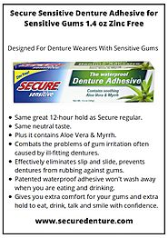 Buy Secure Sensitive Denture Adhesive for Sensitive Gums