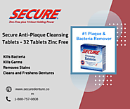 Zinc Free Secure Anti Plaque Cleansing Tablets