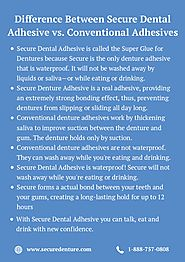 Difference Between Secure Dental Adhesive vs. Conventional Adhesives