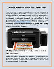 For reliable and result oriented Epson Printer support Contact us Toll-Free