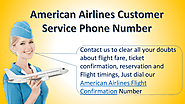 Contact American Airlines Flight Confirmation Number