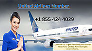 Contact us at united airlines customer support experts at +1 855 424 4029