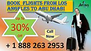 If you are looking for flight From Los Angeles to Abu Dhabi, dial +1 888 263 2953