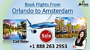 Contact us at +1 888 263 2953 to book flights from Orlando to Edinburgh PowerPoint Presentation - ID:8179251