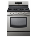 "Samsung FX510 30"" Freestanding Gas Range with 5 Burners and Convection Oven, Stainless"