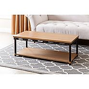 Abbyson Living Byron Coffee Table in Natural | Lavorist