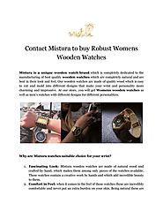 Contact Mistura to buy Robust Womens Wooden Watches
