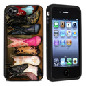 Rubber Cowboy Boots Case Cover for iPhone 4 4s