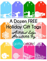 Colorful Holiday Tags by I Gotta Create!