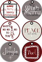 Merry Christmas Gift Tags by Poppies at Play