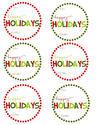 Happy Holidays Gift Tags by Mommy by day Crafter by night