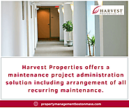 Maintenance Services in Boston | Harvest Properties