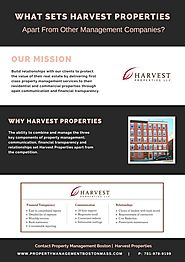 What Sets Harvest Properties Apart From Other Management Companies? by PeterParkar - Issuu