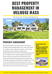BEST PROPERTY MANAGEMENT IN MELROSE MASS | edocr