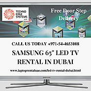 "Samsung 65"" LED TV rental for best price in Dubai"