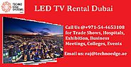 LED TV Rental Dubai - Techno Edge Systems LLC