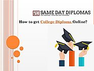 How to get College Diploma Online?