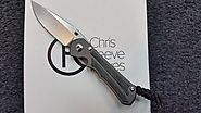 CHRIS REEVE SMALL INKOSI BLACK MICARTA INLAY S35VN STEEL FOLDING KNIFE.