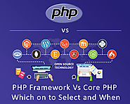 PHP Framework Vs Core PHP – Which on to Select and When &; Top Web Design and Development Company in USA and India
