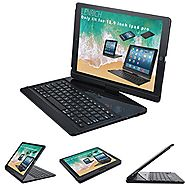 iPad pro 12.9 case with Keyboard 2017 and 2015 , Lenrich 360 Degree Rotatable 12.9 inch ipad pro Wireless Bluetooth K...