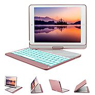 New iPad 9.7 Keyboard Case, GreenLaw 7 Color Backlit Keyboard Case Cover 360° Rotate Smart Keyboard Case with Auto Wa...