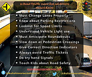 10 Road Traffic rules that all drivers should be aware of | Auto Insurance Invest