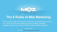 8 Rules of Moz Marketing