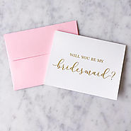 Gold Foil Will You Be My Bridesmaid Card - Bridesmaid Proposal - Bridal Party Card - Bridesmaid Card - Maid of Honor ...