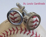 St. Louis Cardinals Game Used Baseball Cufflinks