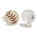 Tokens & Icons MLB Game Played Baseball Sterling Silver Cufflinks