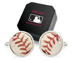 Authentic Game Used Baseball Stitches Cufflinks 2014. Powered by RebelMouse